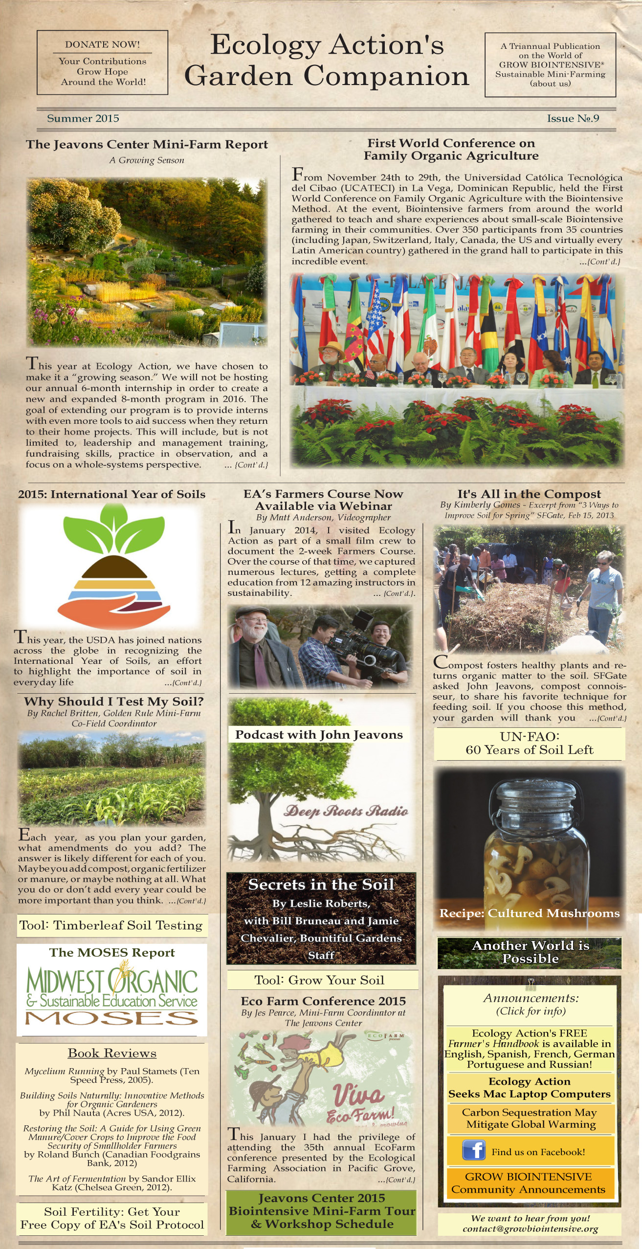 ecology action enews no 9