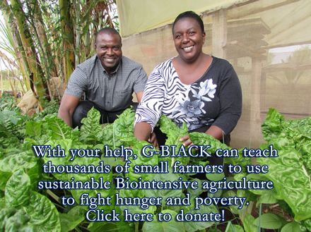 You can help G-BIACK teach small farmers to fight hunger and poverty!